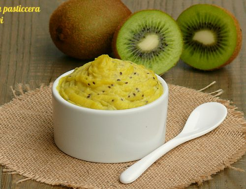 Crema pasticcera al kiwi homemade