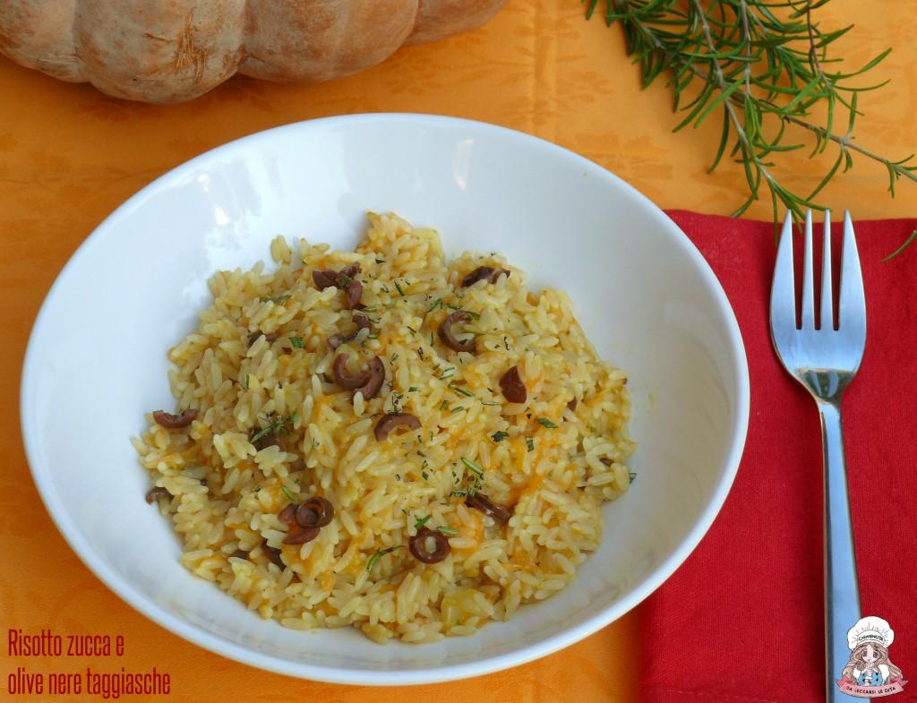 Risotto zucca e olive nere taggiasche
