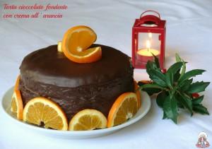 Torta cioccolato fondente con crema all'arancia