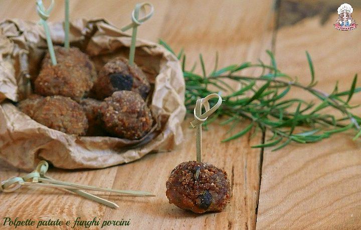 Polpette di patate e funghi porcini