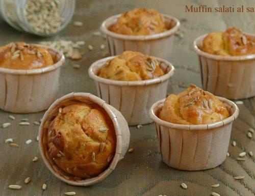 Muffin salati al salmone e finocchietto