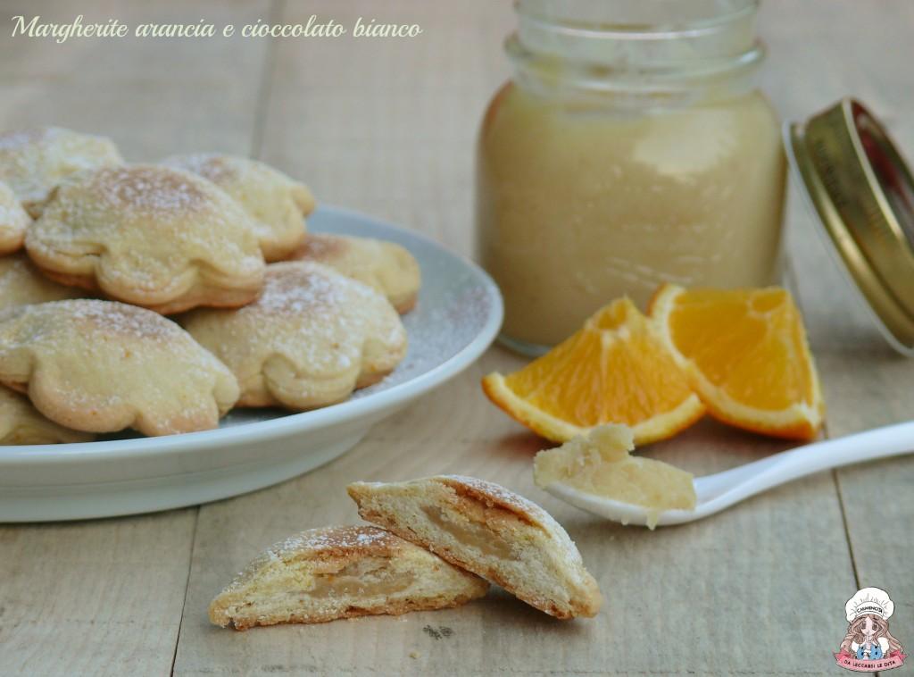 Margherite arancia e cioccolato bianco