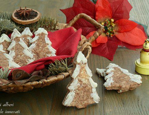 Biscotti alberi di natale innevati idea regalo