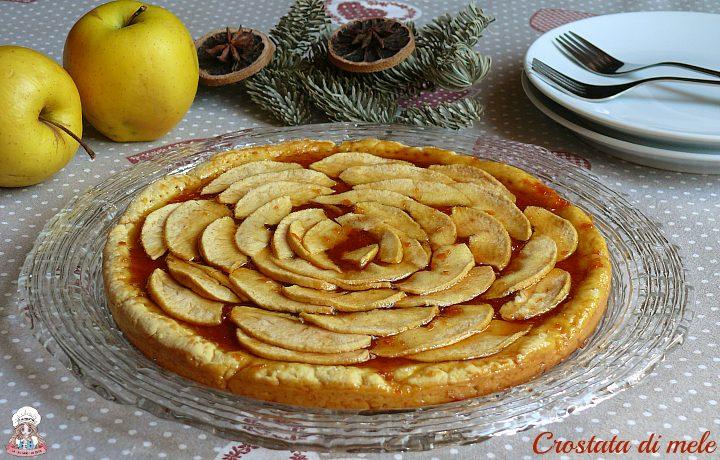 Crostata di mele con marmellata di arance e cannella