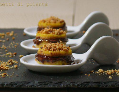 Dolcetti di polenta con nutella e nocciole