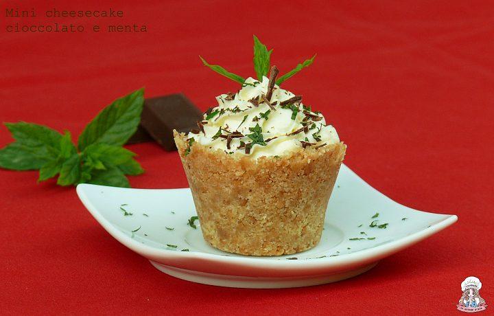 Mini cheesecake cioccolato e menta