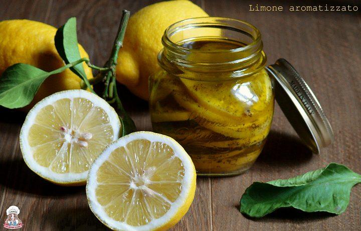 Limone aromatizzato conservato sott'olio