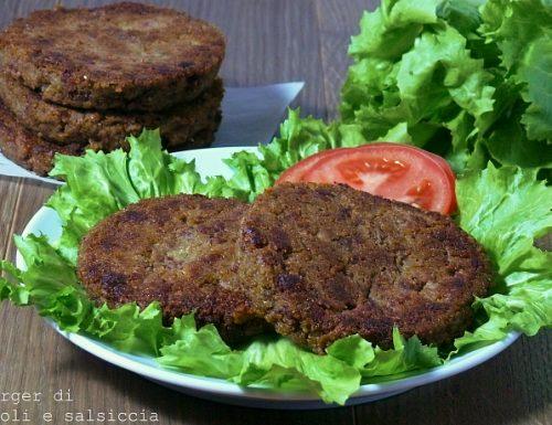 Hamburger di broccoli e salsiccia