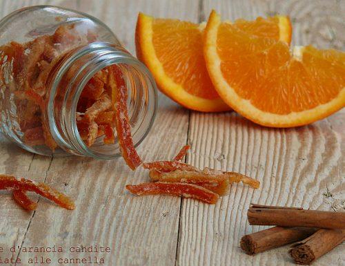 Scorze di arancia candite speziate alla cannella