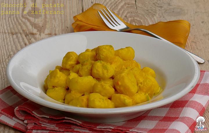 Gnocchi di patate panna e zafferano
