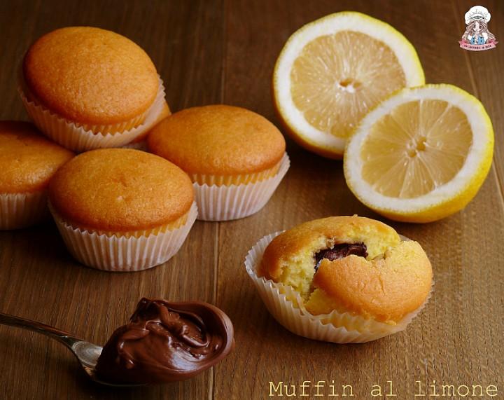 Muffin al limone con cuore di nutella