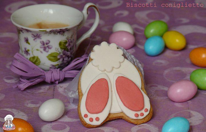 Biscotti coniglietto in pasta di zucchero