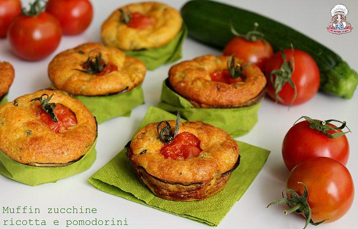 Muffin zucchine ricotta e pomodorini