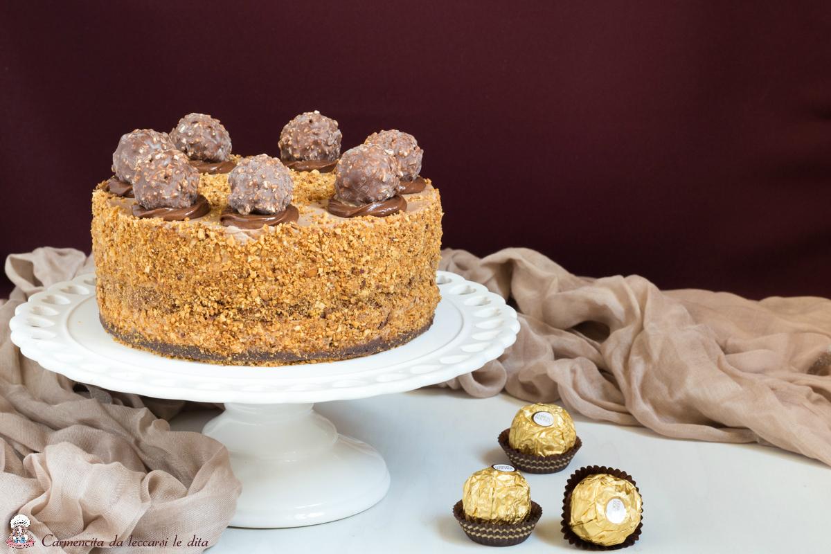 Molto Cheesecake ferrero rocher ricetta senza cottura PR76