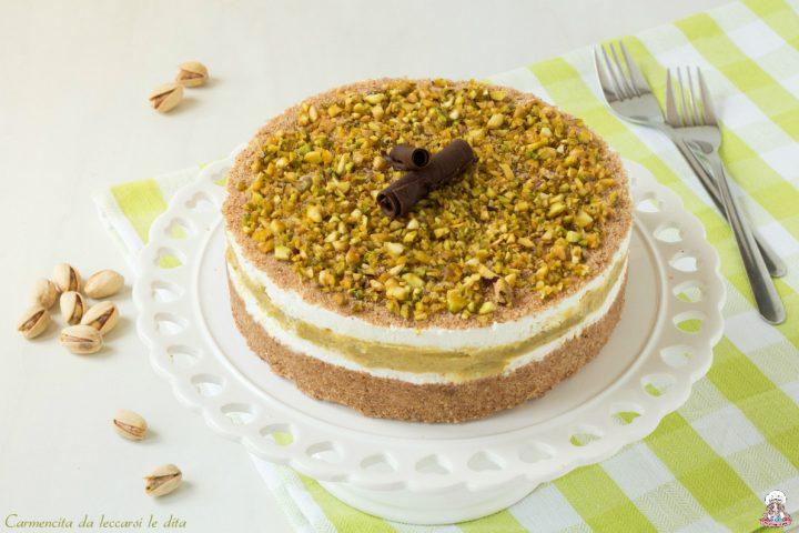 Torta fredda ricotta e pistacchi ricetta