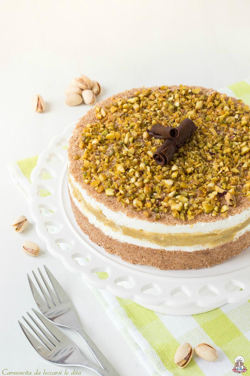 Popolare Torta fredda ricotta e pistacchi ricetta senza cottura PY67