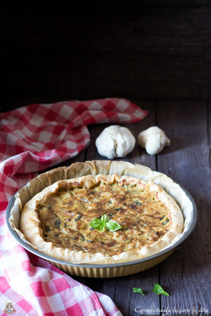 Torta salata patate e zucchine ricetta senza lattosio
