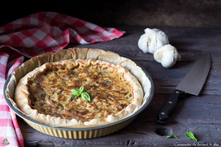 Torta salata patate e zucchine ricetta