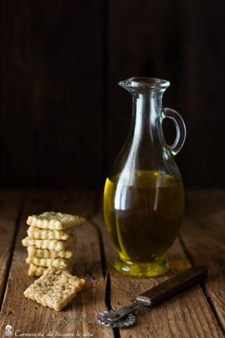 Crackers al vino e olio evo
