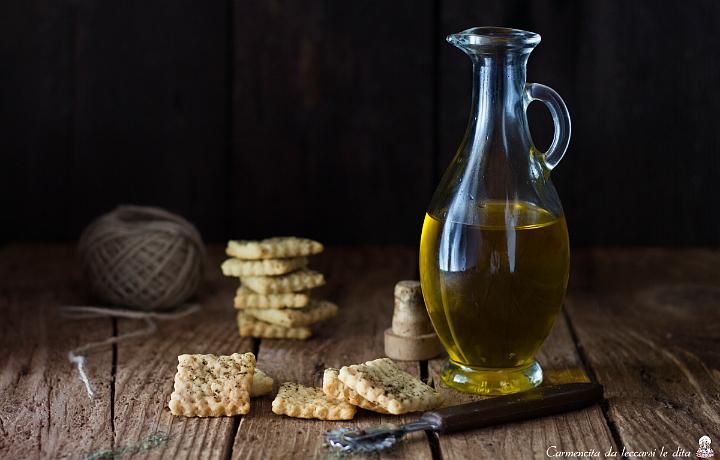 Crackers al vino e olio