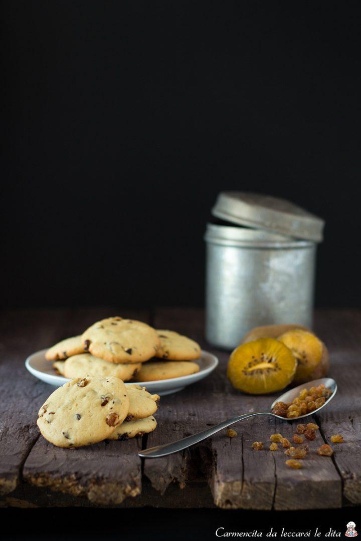 Biscotti kiwi cioccolato e uvetta