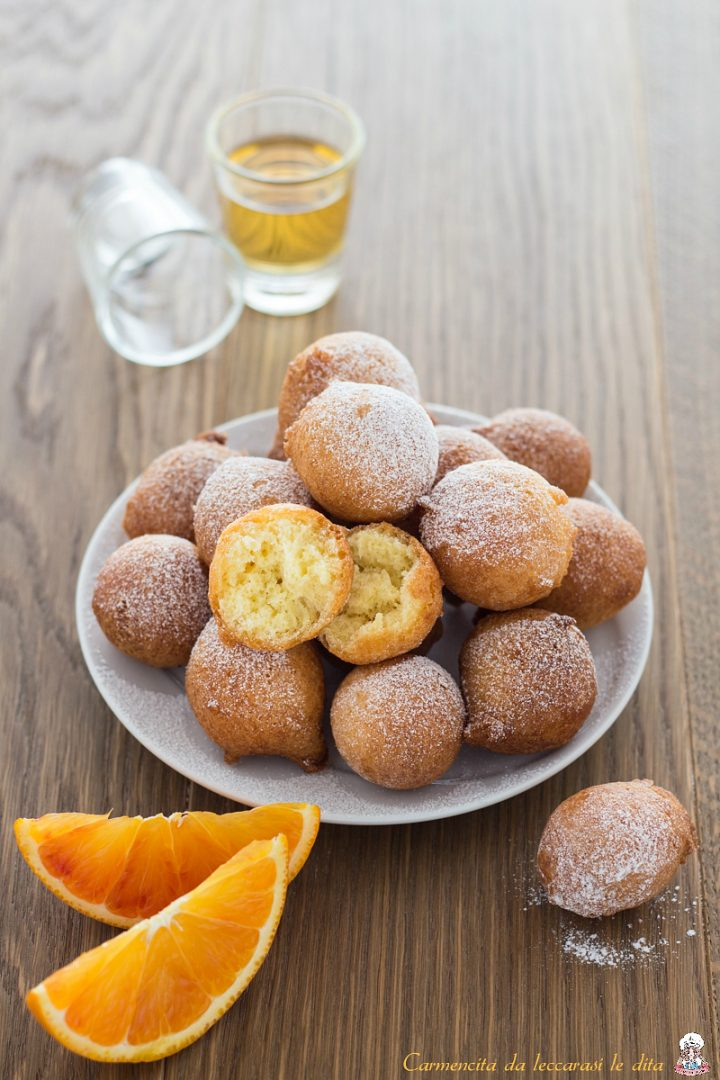Frittelle dolci ricotta e arancello