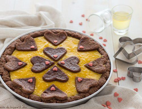 Crostata al cioccolato con crema limoncello