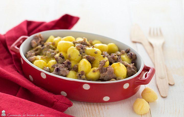 Gnocchetti di patate con salsiccia e crema allo zafferano