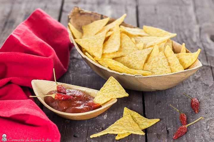Ricetta Tortilla Chips Bimby.Tortillas Ricetta Chips Di Mais Con Salsa Piccante Fatte In Casa