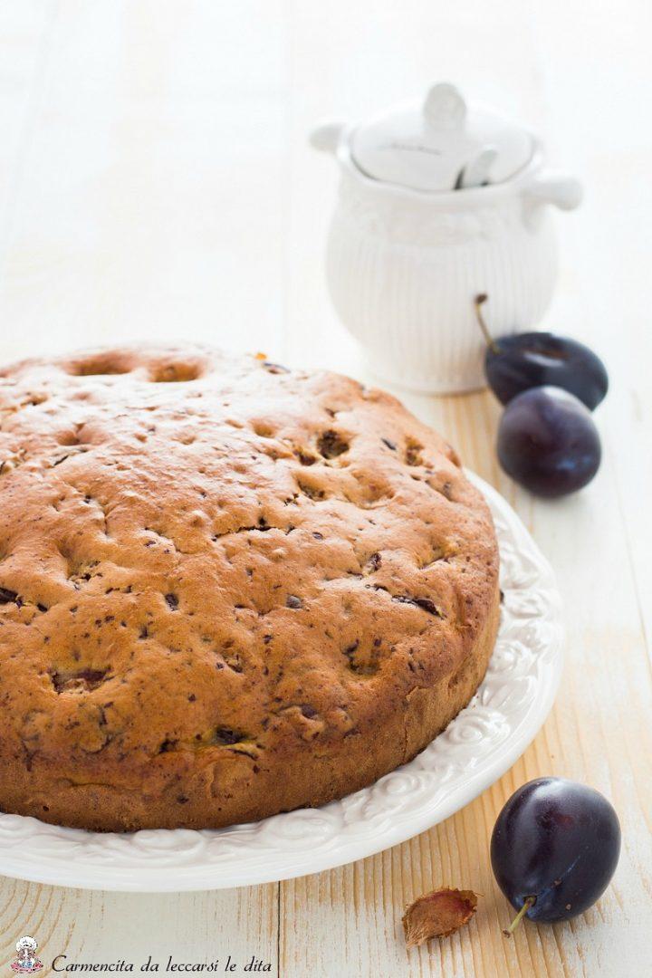 Torta prugne e cioccolato fondente