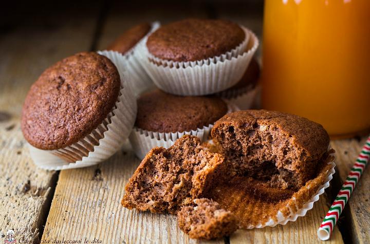 Muffin zucca mandorle e cacao