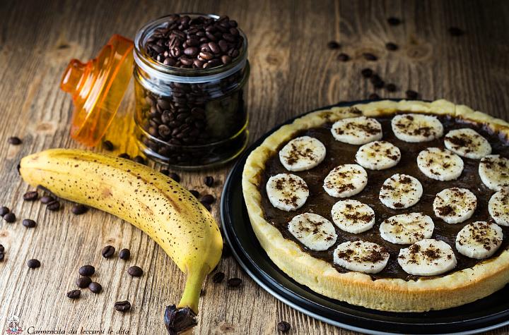 Crostata con crema caffe e banana