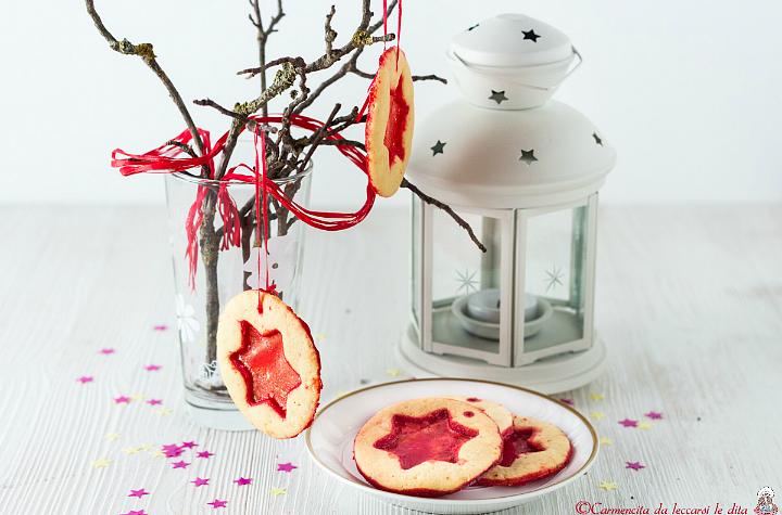 Biscotti di Natale col vetrino