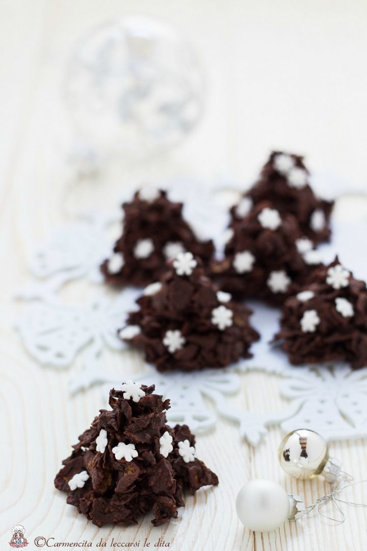 Alberi di Natale al cioccolato