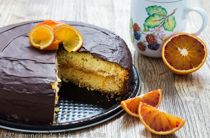 Torta paradiso arancia e cioccolato