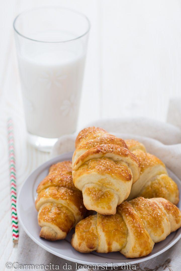Cornetti sfogliati ricetta senza lattosio