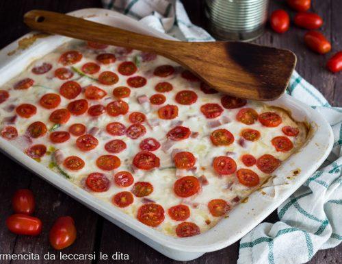 Pasticcio di zucchine con pomodorini
