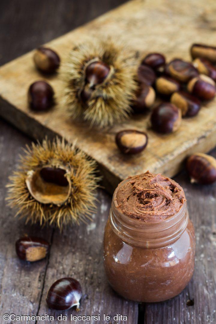 Crema spalmabile di castagne e cioccolato fondente