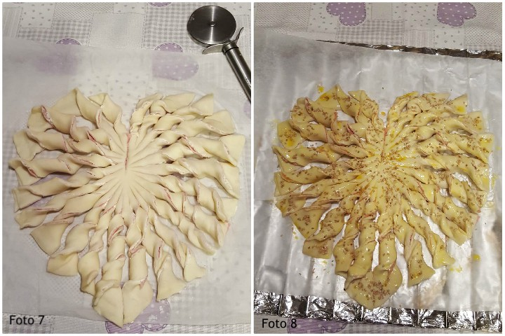 Cuore di pasta sfoglia ricetta salata