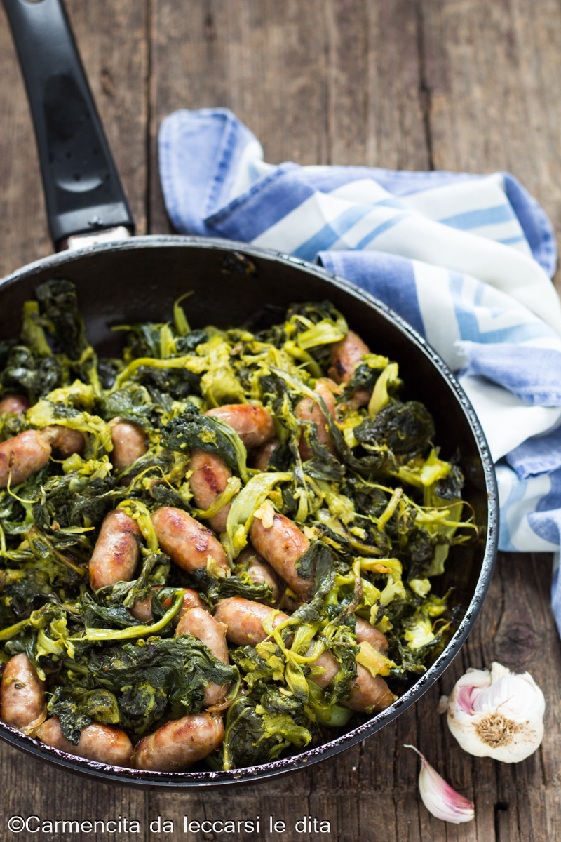 Salsicce e friarielli ricetta napoletana