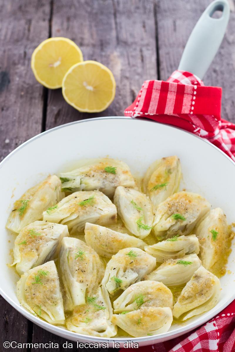 Finocchi al limone gratinati