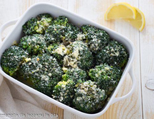 Broccoli al limone gratinati