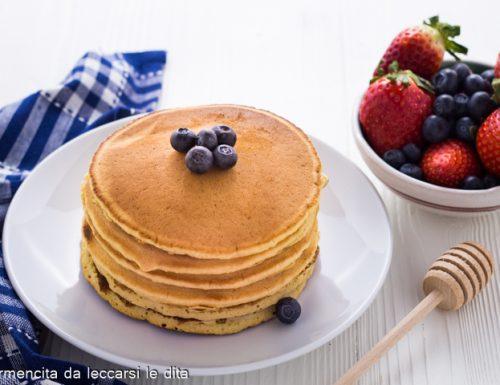 Pancake ricetta senza burro e senza latte