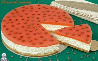 Cheesecake anguria senza colla di pesce