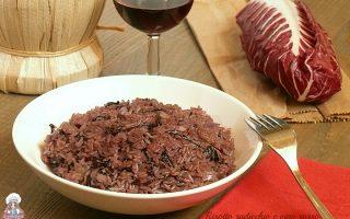 Risotto radicchio e vino rosso