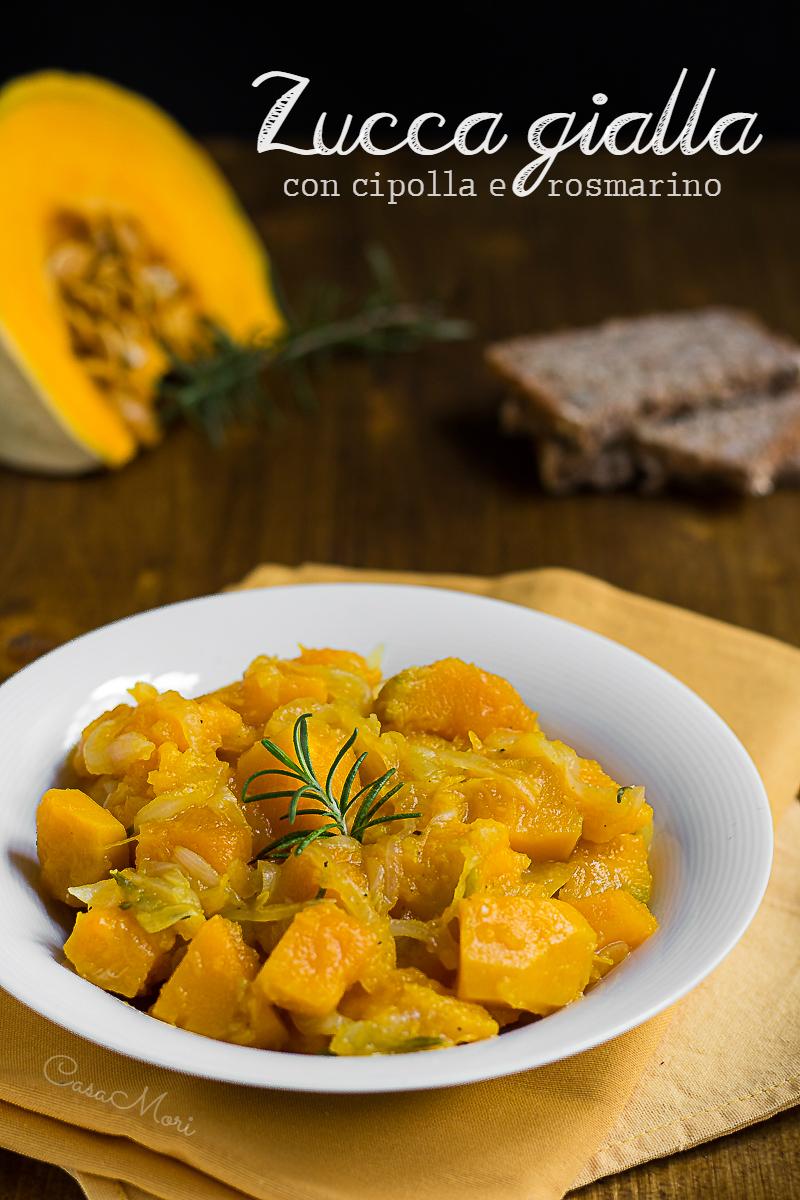 Zucca gialla alla cipolla e rosmarino con noce moscata
