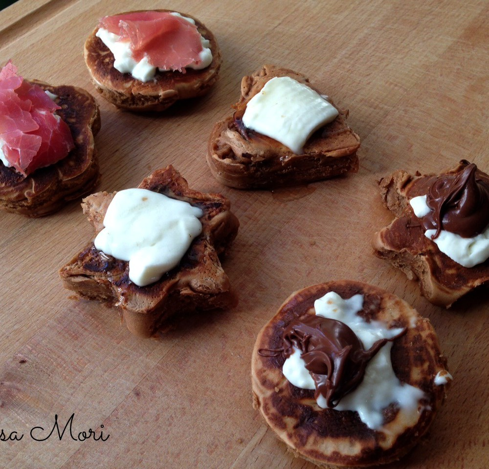 Frittelle - straccchino, bresaola, Nutella