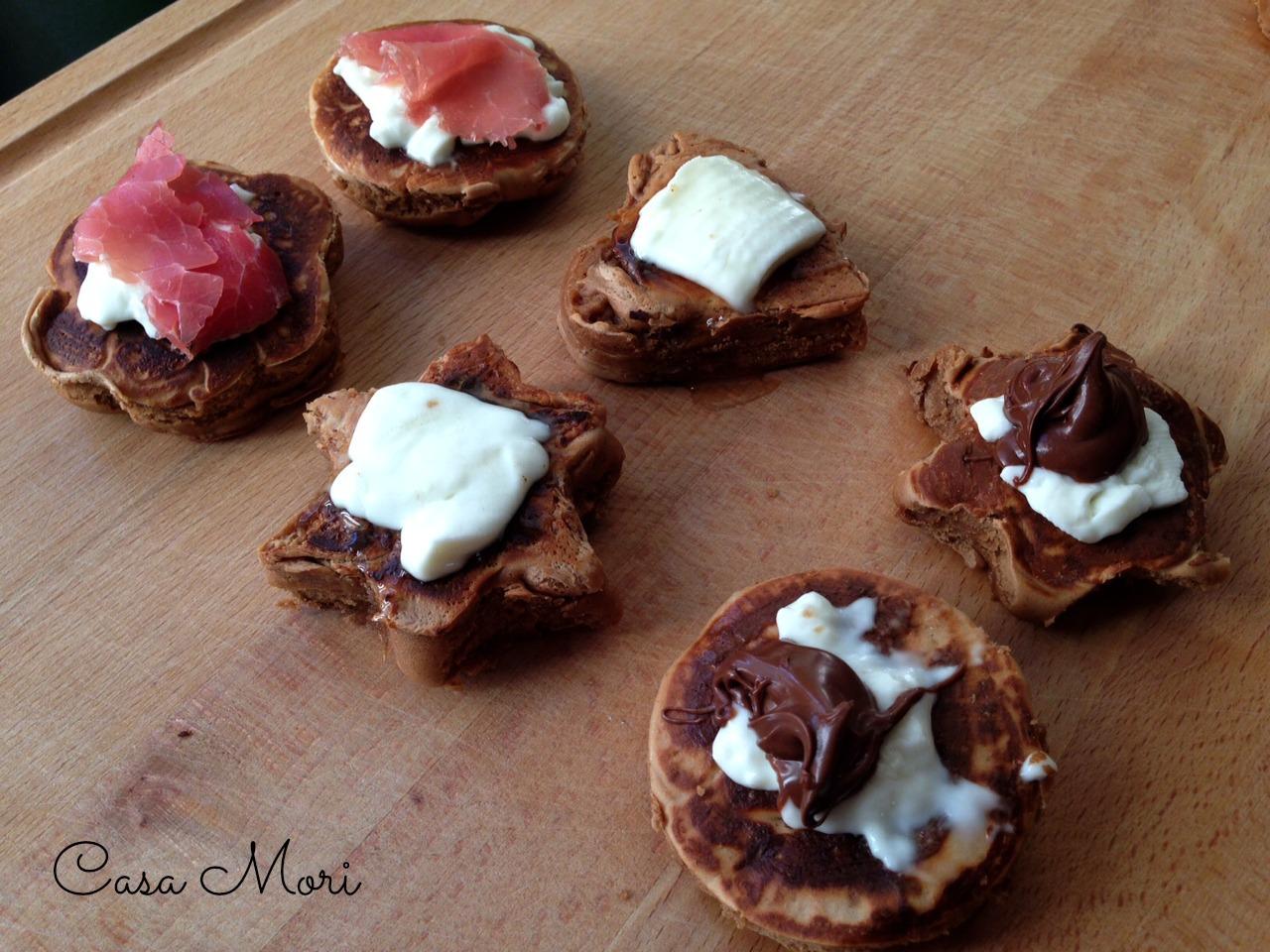 Frittelle - rosmarino, bresaola, Nutella