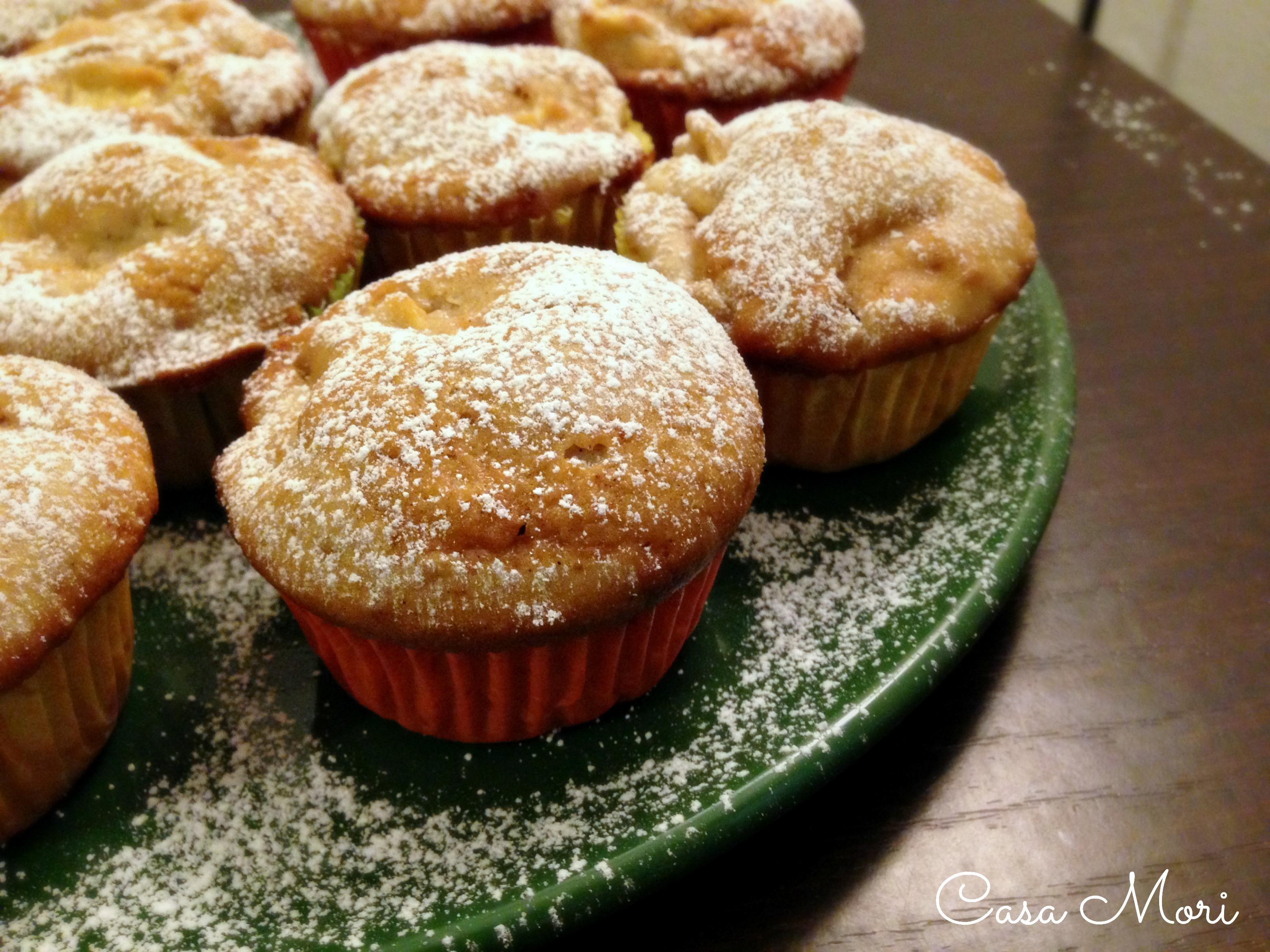 Muffins alle mele, arancia e cannella