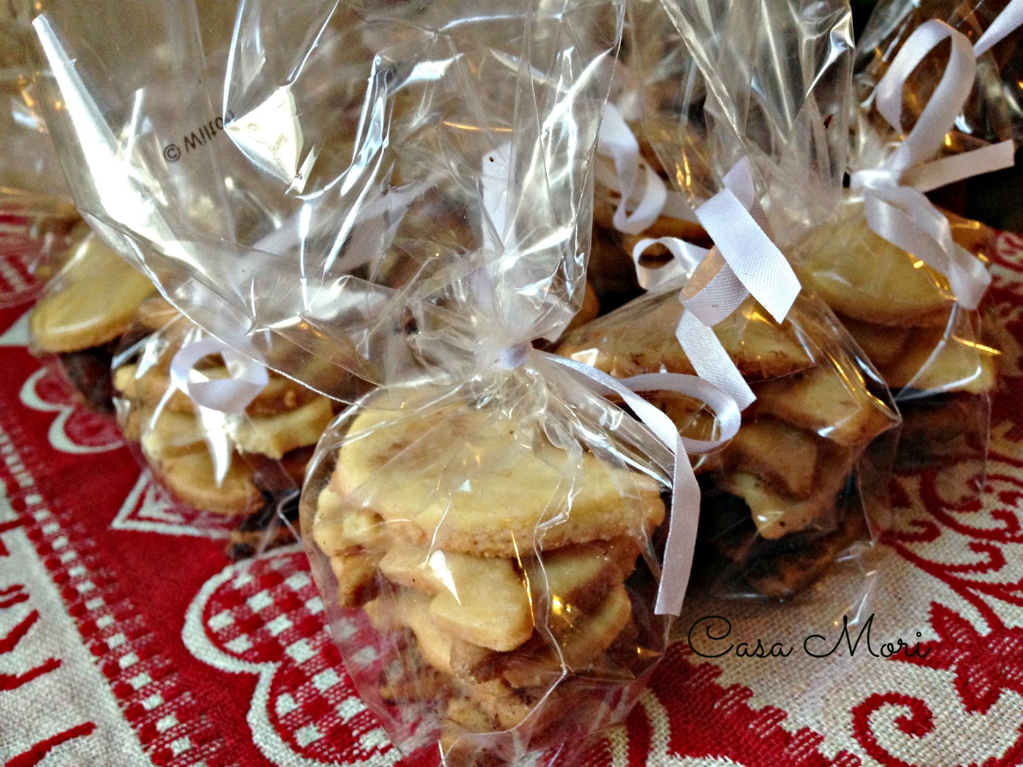 Biscotti natalizi impacchettati